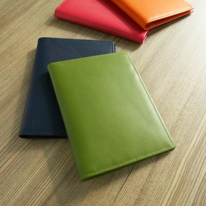 【小瑕疵福利品】繽紛系列-皮革護照夾 芥末綠