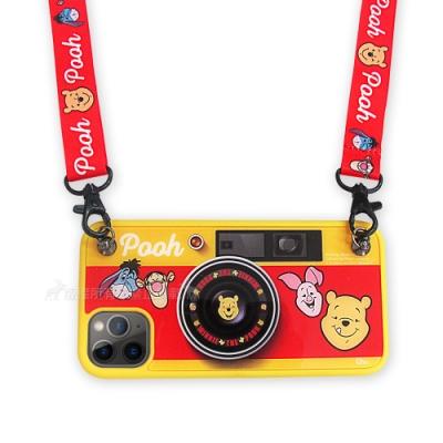 迪士尼相機造型 iPhone 11 Pro 5.8 吋保護殼+掛繩+支架禮盒組(維尼)