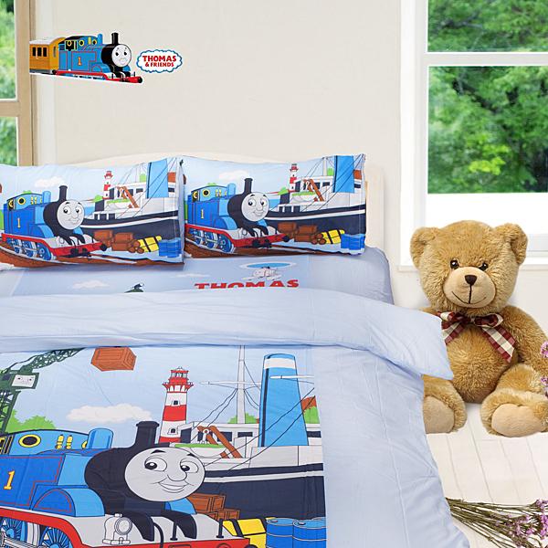 湯瑪士小火車 港口 床包被套 加大四件組 台灣製 伊尚厚生活美學