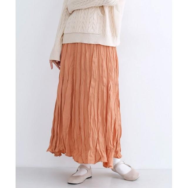 メルロー ワッシャープリーツロングスカート レディース ピンク FREE 【merlot】