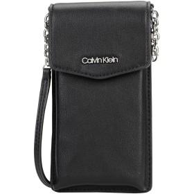 《セール開催中》CALVIN KLEIN レディース メッセンジャーバッグ ブラック ポリウレタン 100% CHAINED PHONE POUCH