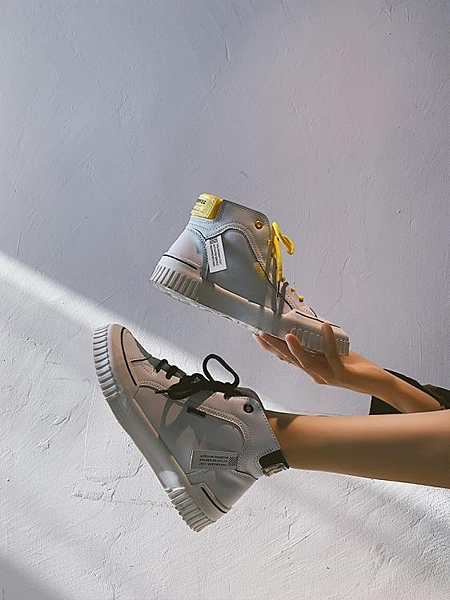 【快出】厚底小白鞋女秋款韓版ulzzang時尚高筒鞋學生百搭復古休閒鞋