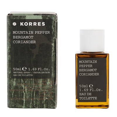 Korres Mountain Pepper Bergamot Coriander Eau de Toilette 50ml