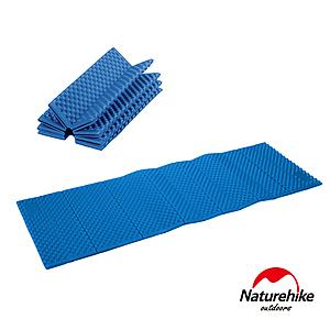 Naturehike 單人加厚耐壓蛋巢型折疊防潮墊 藍