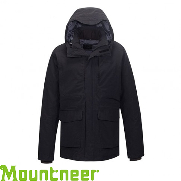 【Mountneer 山林 男款 防水保暖羽絨外套《黑》】22J15/90羽絨/10羽毛/750FP