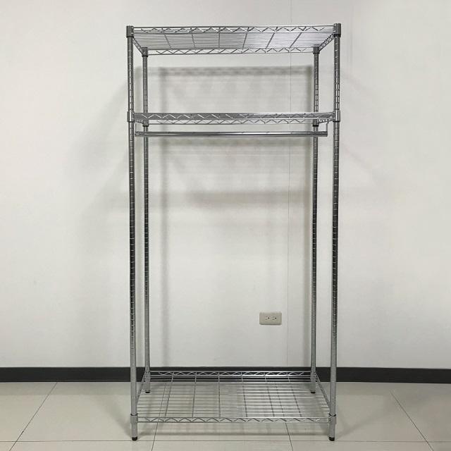 【我塑我形】90 x 45 x 180 cm 三層鐵力士衣櫥鍍鉻收納置物架