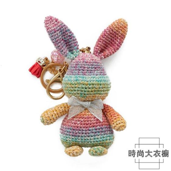 巧織館暴力兔鑰匙扣玩偶編織手工DIY毛線材料包