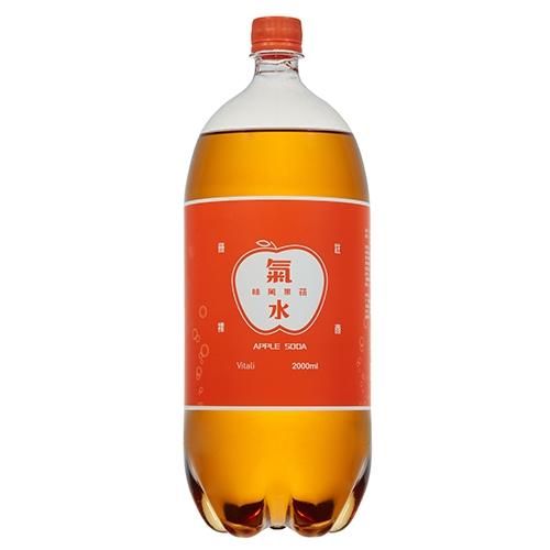 維大力蘋果風味氣水2000ML【愛買】