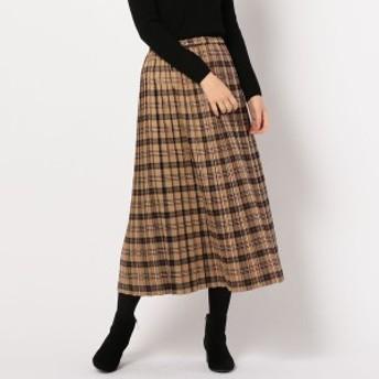 フレディ&グロスター レディース(FREDY&GLOSTER)/チェックプリーツロングスカート
