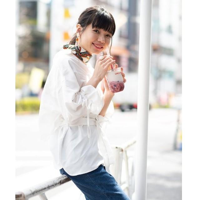 【ウィゴー】WEGO/ベルト付きBIG7分袖スキッパーシャツ