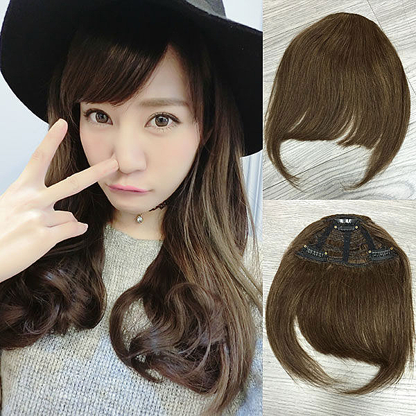 100%真髮髮片 ㄇ字型瀏海 DIY接髮 妹妹頭劉海髮片G  可修飾臉型 魔髮樂
