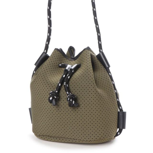 ヴィータフェリーチェ VitaFelice ネオプレーン バッグ 巾着 ショルダーバッグ バケットバッグ レディースミニショルダーバッグ (KHAKI)