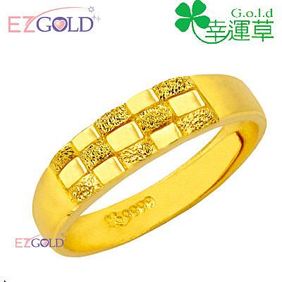幸運草金飾-編織愛情-黃金戒指(女)