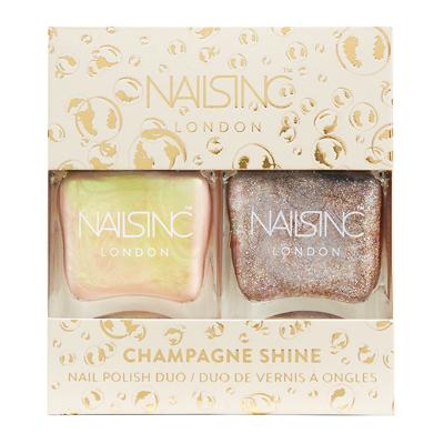 NAILSINC Champagne Shine Nail Polish Duo