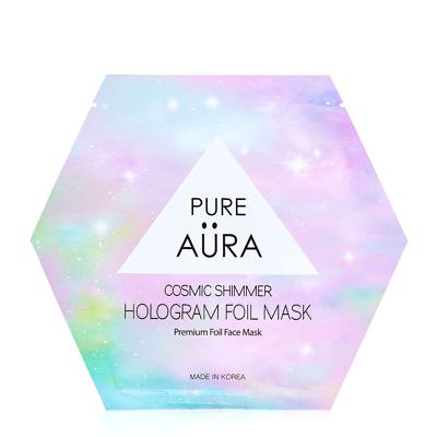 Pure Aura Cosmic Shimmer Glitter Hologram Foil Mask Sheet 25ml