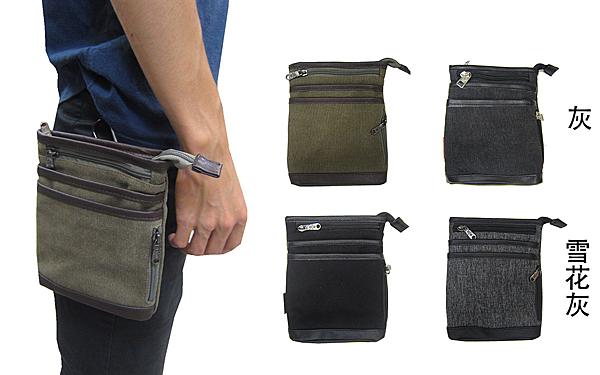 ~雪黛屋~SPYWALK 腰包外掛型腰包6寸手機插筆外袋主袋+外袋共五層工作隨身防水帆布SD9015