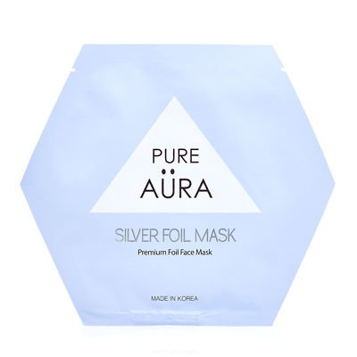 Pure Aura Silver Foil Mask Sheet 25ml