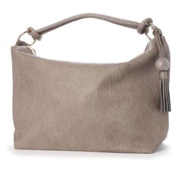 ヴィータフェリーチェ VitaFelice ショルダーバッグ レディースバッグ 肩掛け ワンハンドルトートバッグ 旅行バッグ (GRAYBEIGE)