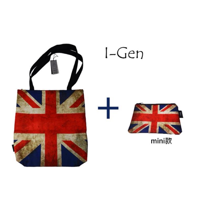 { i-GEN }托特包 -英國國旗款-買大送小- 防水包 側肩包 側背包 化妝包 手拿包文創設計