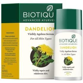 Biotique Bio Dandelion Visibly Ageless lightening serum, 40 ml Rich in Vitamin E Biotiqueバイオタンポポ目に見えないエイジライトニング血清豊富なビタミンE
