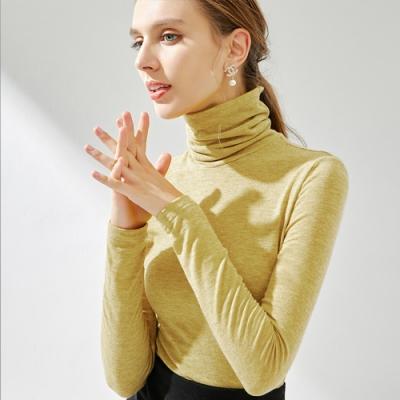專注內搭-含羊毛針織衫堆堆領薄版長袖T恤(二色S-3XL可選)