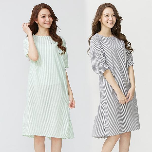 輕甜風味純棉居家睡衣洋裝(2件組)