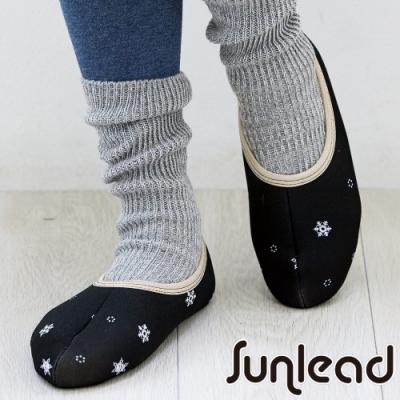 Sunlead 防寒刷毛雪花圖案暖腳套/室內鞋套