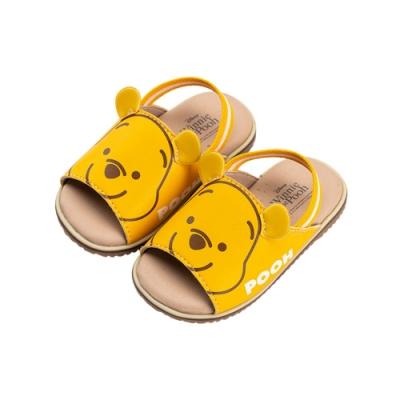 迪士尼童鞋 小熊維尼 立體大臉鬆緊帶涼鞋(柏睿鞋業)