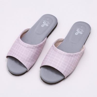 維諾妮卡 生活品味乳膠室內拖鞋-粉色