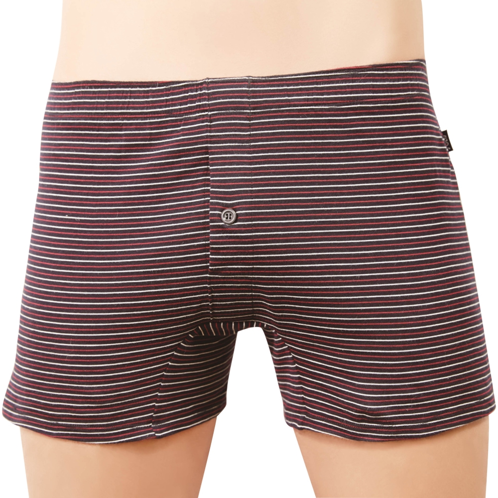 SOLIS 優質型男系列M-XXL印花寬鬆四角男褲(藍墨色)