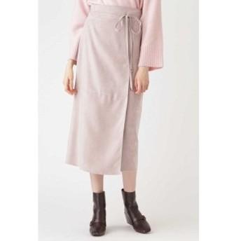 ジルスチュアート(JILLSTUART)/◆ノアフェイクスエードラップ風スカート