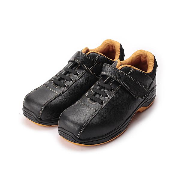 PAMAX 鞋帶式黏帶鋼頭安全鞋 黑 男