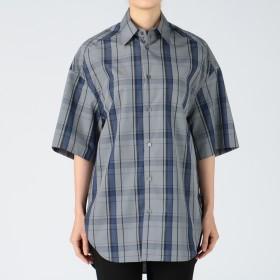 Scye(サイ)/先染高密度チェック半袖ビッグシャツ