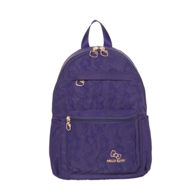 Hello Kitty凱蒂貓 快意之旅 後背包 中 紫 KT01R02PL