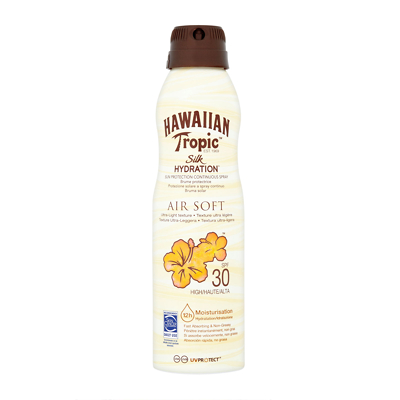 Hawaiian Tropic Silk Hydration Air Soft Lotion Continuous Spray SPF30 177ml