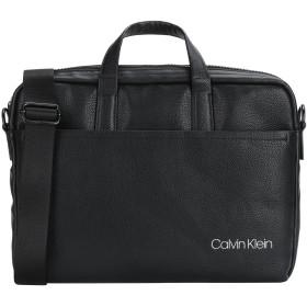 《セール開催中》CALVIN KLEIN メンズ ブリーフケース ブラック ポリウレタン 100% CK DIRECT SLIM LAPTOP BAG