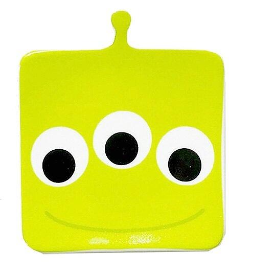 〔小禮堂〕迪士尼 三眼怪 大臉造型陶瓷醬料碟《綠》小菜碟 4942423-24720