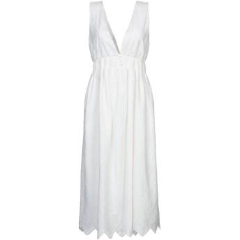《セール開催中》IMPERIAL レディース 7分丈ワンピース・ドレス ホワイト L コットン 100%