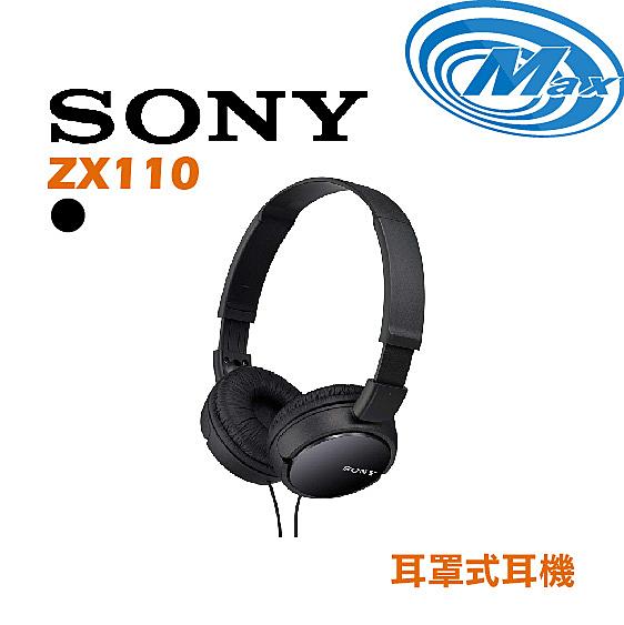 《麥士音響》 【黑色有現貨】SONY索尼 耳罩式耳機 ZX110 3色