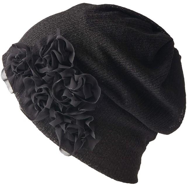 CHARM 医療用帽子 抗がん剤 [ フリーサイズ/ブラック ] ニットキャップ ニット帽 帽子