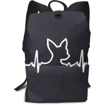 バックパックリュックサックラップトップバッグ 大容量 カジュアルバッグ 犬 ハートビート チワワ 旅行バッグ 通学用
