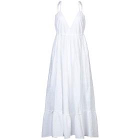 《セール開催中》OTTOD'AME レディース 7分丈ワンピース・ドレス ホワイト 44 コットン 100%