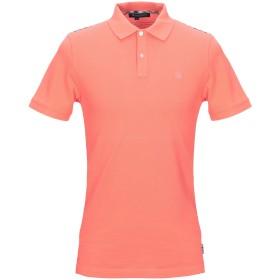 《セール開催中》AQUASCUTUM メンズ ポロシャツ サーモンピンク S コットン 100%