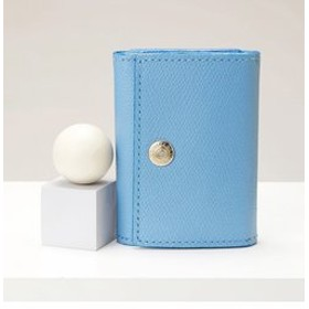 【SALE開催中】【TOPKAPI:財布/小物】[トプカピ] TOPKAPI 角シボ型押し・三つ折りミニ財布 COLORATO コロラート