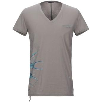 《セール開催中》PAOLO PECORA メンズ T シャツ ドーブグレー M コットン 100%