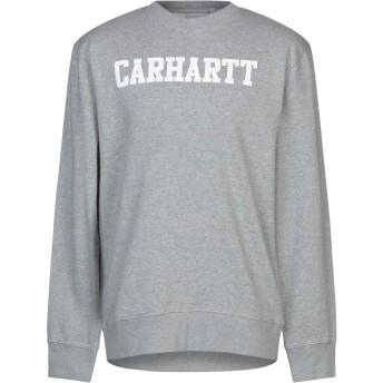 《セール開催中》CARHARTT メンズ スウェットシャツ ライトグレー S コットン 100%