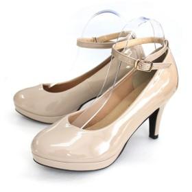 AmiAmi \サイズ豊富22.0-26.0! 8.5cm美脚ヒールアンクルストラップ付きパンプスレディース ストラップ ヒール スエード 黒低反発 レース エナメル 大きいサイズ 小さいサイズ ツイード シフォンホワイト シューズ 靴 グレー 24.0cm レディース 5,000円(税抜)以上購入で送料無料 パンプス 夏 レディースファッション アパレル 通販 大きいサイズ コーデ 安い おしゃれ お洒落 20代 30代 40代 50代 女性 靴 シューズ