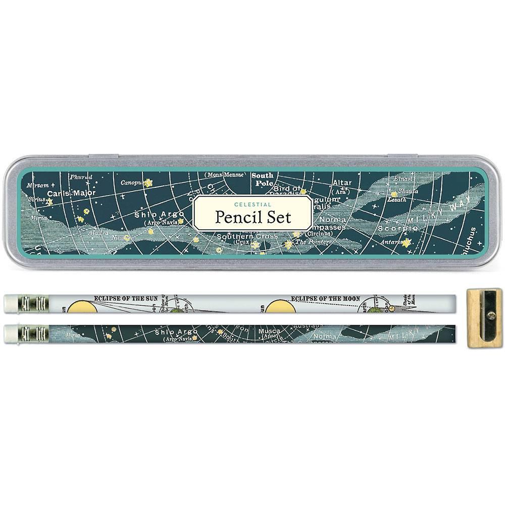 CAVALLINI&CO 復古鉛筆組(地圖,天體圖,英國,色輪,多肉)