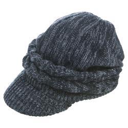 條紋編織抗寒遮耳帽