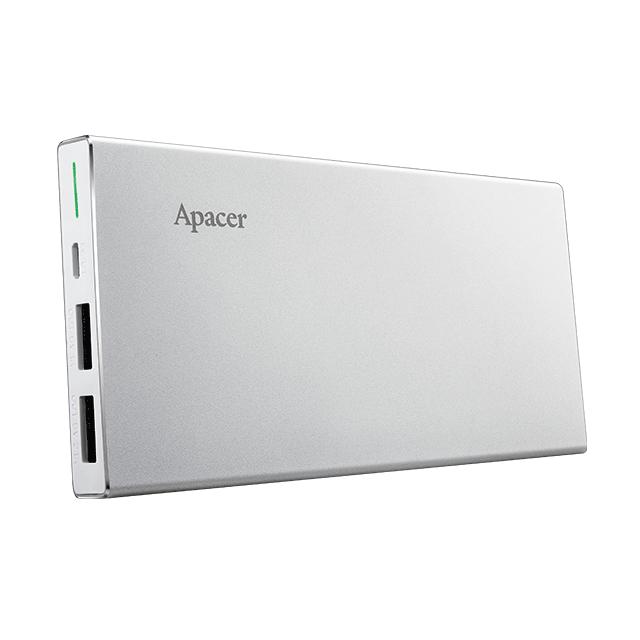 Apacer 10000mAh 超薄 鋁合金 雙輸出 行動電源 B522 原廠 公司貨 隨充 行充